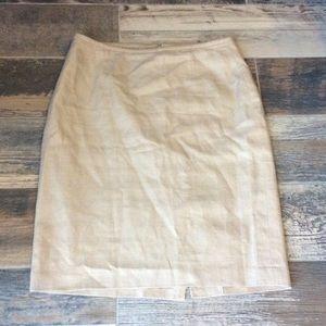 Calvin Klein Linen Skirt Sz 5 new condition